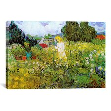 'Marguerite Gachet in Her Garden' by Vincent Van Gogh Painting Print on Canvas
