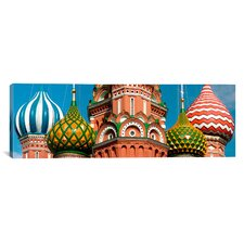 Panoramic St. Basil's Cathedral, Moscow, Russia Photographic Print on Canvas