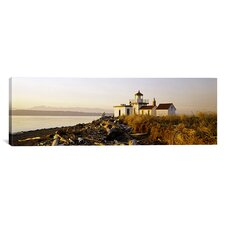 Panoramic West Point Lighthouse, Seattle, Washington State Photographic Print on Canvas