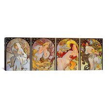 'Les Saisons' by Alphonse Mucha Painting Print on Canvas