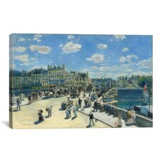 'Le Pont Neuf (Paris)' by Pierre-Auguste Renoir Painting Print on Canvas