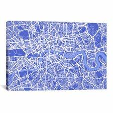 'London Map IV' by Michael Thompsett Graphic Art on Canvas