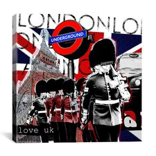 """London #2"" Graphic Art on Canvas by Luz Graphics"