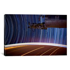 Astronomy and Space ''Long Exposure Star Photograph from Space'' Graphic Art on Canvas