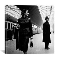 """Lisa Fonssagrives at Paddington Station"" Canvas Wall Art by Toni Frissell"