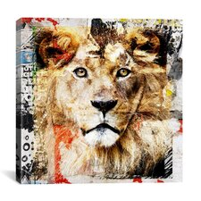"""Lion"" Painting Print on Canvas by Luz Graphics"