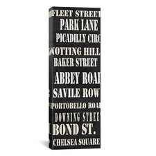 Typography ''London Streets from Willow Way Studios, Inc'' Textual Art on Canvas