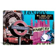 """London #1"" Graphic Art on Canvas by Luz Graphics"
