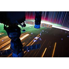 Astronomy and Space ''Long Exposure Star Photograph from Space VI'' Graphic Art on Canvas