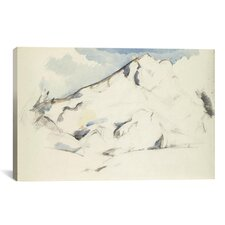 'La Montagne Sainte-Victoire (Fruits Et Feuillage) 1900-1902' by Paul Cezanne Painting Print on Canvas