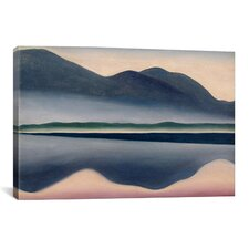 Scenic 'Lake at Dawn' Painting Print on Canvas
