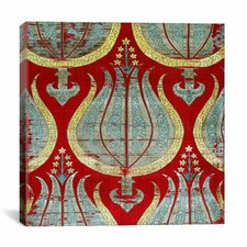 Lampas Textile with Tulips Lamella Turkey Canvas Wall Art
