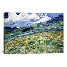 Landscape at Saint-Remy by Vincent Van Gogh Painting Print on Canvas