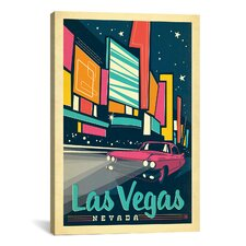'Las Vegas, Nevada' by Anderson Design Group Vinatage Advertisement on Canvas