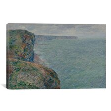 'La Mer Vue Des Falaises 1881' by Claude Monet Painting Print on Canvas