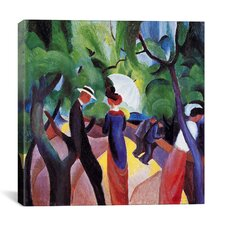 'Promenade' by August Macke Painting Print on Canvas