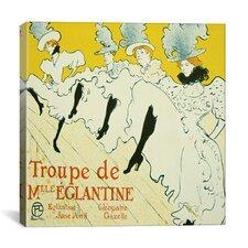 """""""La Troupe de Mademoiselle Eglantine"""" Canvas Wall Art by Henri De Toulouse-Lautrec"""