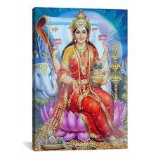 Hindu Lakshmi Goddess Graphic Art on Canvas
