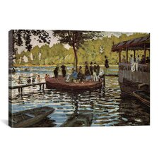 'La Grenouillere 1869' by Claude Monet Painting Print on Canvas