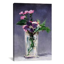 """""""Ragged Robins and Clematis'""""by Edouard Manet Canvas Painting Print"""
