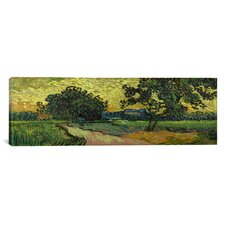 'Landscape at Twilight' by Vincent Van Gogh Painting Print on Canvas