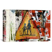 """Pancarte Scolaire (School Sign)"" Painting Print on Canvas by Luz Graphics"