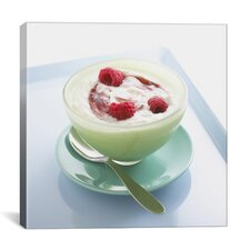 Raspberry Yogurt Photographic Canvas Wall Art