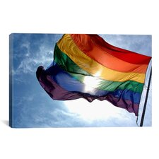 LGBT Rainbow Flag Gay Pride Photographic Print on Canvas