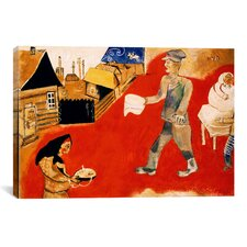 'Purim, 1918' by Marc Chagall Painting Print on Canvas