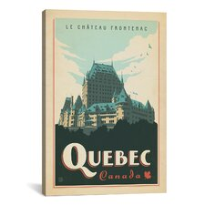 'Quebec, Canada' by Anderson Design Group Vintage Advertisement on Canvas