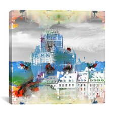 Quebec City, Canada - Frontenac Hotel Graphic Art on Canvas
