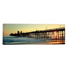 Panoramic Oceanside Pier, Oceanside, California Photographic Print on Canvas