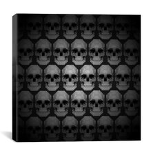 Modern Art Pixilated Skulls Modern Graphic Art on Canvas
