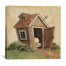"""Outhouse IV"" Canvas Wall Art by John Zaccheo"