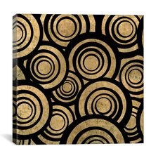 Modern Art Overlapping Circle Pattern Graphic Art on Canvas