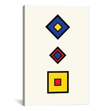 Modern Square Composition Graphic Art on Canvas