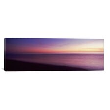 Panoramic 'Ocean at Sunset, Los Angeles County, California' Photographic Print on Canvas