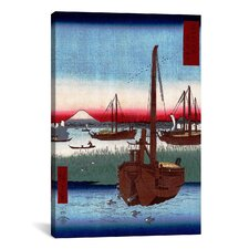 'Off Tsukuda Island' by Utagawa Hiroshige Painting Print on Canvas