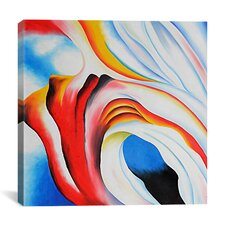 'Music Pink and Blue' by Georgia O'Keeffe Painting Print on Canvas
