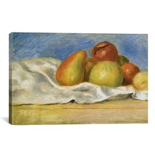 'Nature Morte Aux Pommes Et Poires 1890' by Pierre-Auguste Renoir Painting Print on Canvas