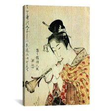 'Musicienne' by Katsushika Hokusai Painting Print on Canvas