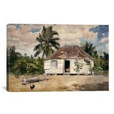 'Native Huts, Nassau' by Winslow Homer Painting Print on Canvas