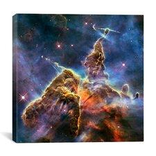 Mystic Mountain in Carina Nebula II (Hubble Space Telescope) Canvas Wall Art