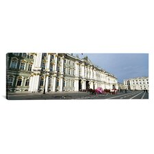 Panoramic State Hermitage Museum, Winter Palace, Palace Square, St. Petersburg, Russia Photographic Print on Canvas