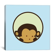 Kids Children Monkey Face Canvas Wall Art