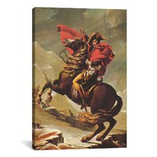 Political 'Napoleon Crossing the Alps' by Jacques-louis David Painting Print on Canvas