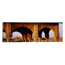Panoramic Monuments at a Place of Burial, Jaisalmer, Rajasthan, India Photographic Print on Canvas