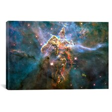 Astronomy and Space 'Mystic Mountain in Carina Nebula (Hubble Space Telescope)' Painting Print on Canvas