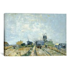 'Montmartre Molens en Moestuinen (Mills and Vegetable Gardens)' by Vincent van Gogh Painting Print on Canvas