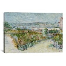 'Montmartre Behind the Moulin de la Galette' by Vincent van Gogh Painting Print on Canvas